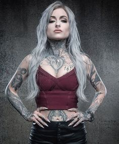Ryan Ashley Malarkey is a Black and Gray tattoo artist based out of Kingston, Pennsylvania. She co-owns and operates her oddities parlo. Hot Tattoo Girls, Tattoed Girls, Inked Girls, Hot Tattoos, Girl Tattoos, Tattoos For Women, Tattooed Women, Sexy Female Tattoos, Ladies Tattoos