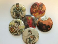 Superman 1.5 inch pinback buttons