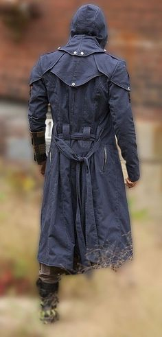 Assassin's Creed Unity Arno Dorian Denim Cloak Cosplay Costume with Hoodie | eBay
