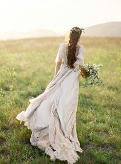 vestido manga larga muy volatill