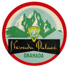 Luggage Tag: Nevada Palace, Granada