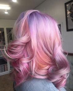 I miss having pink hair. I'll do it again soon, just let my hair grow a bit more. Bright Hair, Colorful Hair, Pinterest Hair, Dye My Hair, Mermaid Hair, Mermaid Makeup, Grunge Hair, Purple Hair, Orange Ombre Hair