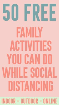 50 Free Family Activities You Can Do While Social Distancing - Amidst the Chaos games for family Youth Activities, Summer Activities, Indoor Family Activities, Senior Citizen Activities, Toddler Activity Board, Activity Bags, Activity Ideas, Family Fun Night, Things To Do At Home