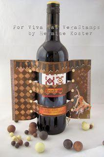 Viva Las VegaStamps!: Inspiration November challenge - how to decorate a wine bottle
