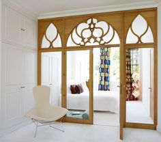Beautiful Room Partitions Made of All Different Materials - I wish I could have a bedroom like this... or even a closet!