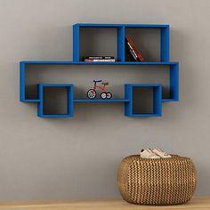 Étagère Vinvin bleue 75 x 134 x 22 cm - Decortie par Homemania