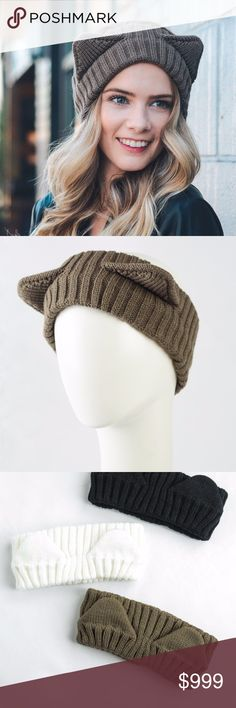 Kerrigan Kitty Headband in Brown [Coming Soon!!] An adorable and comfy way to keep your ears toasty as the weather cools down!  Coming soon, like this listing to know when it arrives!! boutique Accessories Hair Accessories