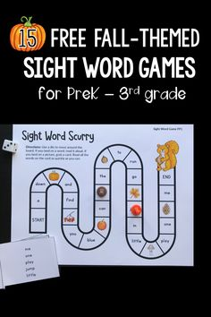 Looking for fall sight word activities? Your students will love these fall-themed sight word games for the Dolch sight word lists ... from preprimer through third grade! You can even grab an editable sight word game! #sightwords #kindergarten #firstgrade #secondgrade #thirdgrade