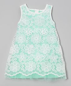 Lace Overlay Shift Dress - Toddler & Girls #zulily #ad *so cute