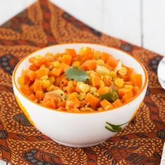 Healthy vegan dish using carrots and lentils. Perfect with rice or flat bread.