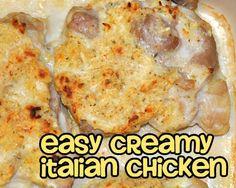 Easy Creamy Italian Chicken
