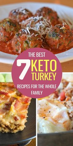Looking for delicious keto zucchini recipes to make dinner tonight? What about delicious keto snacks? Here's everything you need to enjoy your keto week. Ground Turkey Dinners, Ground Turkey Meatballs, Ground Turkey Recipes, Low Carb Ground Turkey Recipe, Ground Turkey Lettuce Wraps, Ground Turkey Stuffed Peppers, Stuffed Turkey, Low Carb Recipes, Diet Recipes