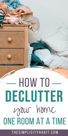 Want to mess your home look less cluttered? Read on for how to reduce the visual noise and clutter in your home. You'll learn how to declutter your home one room at a time. Start making progress today with the free decluttering PDF. #declutter #clutter #home Minimalist Living, Minimalist Lifestyle, Declutter Your Life, Learning To Let Go, Cleaning Hacks, Organizing Tips, Kid Spaces, Simple Living, Smart Home