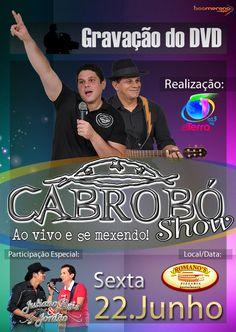 O amigo Zé Filho nos procurou para fazer a identidade visual da gravação do DVD da banda Cabrobó Show, e a mesma foi realizada com o selo de sucesso FMTERRA.