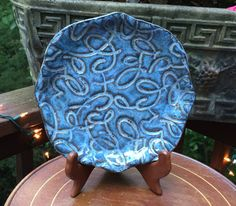 Ceramic Plate Hand Built Pottery Hand Made by SimplySusansPots