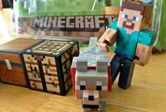Minecraft Action Figure Play sets - #Minecraft #Toys are such a cool gift for kids.  My kids want every set imaginable!