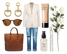 """""""weekend casual"""" by eqlmag on Polyvore featuring Mode, Gucci, 7 For All Mankind, Ray-Ban, Olivine, CLEAN, Alexander McQueen, Crate and Barrel und Bobbi Brown Cosmetics"""
