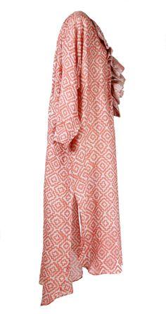 Dress Ruffle Peach Ruffle Dress, Kaftan, Dresser, Pajama Pants, Pajamas, Peach, Women, Fashion, Pjs