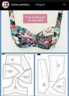 Fashion Sewing, Diy Fashion, Ideias Fashion, Sewing Bras, Sewing Clothes, Clothing Patterns, Sewing Patterns, Diy Clothes Design, Diy Bra