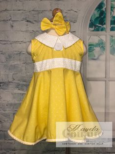 c728bf74d Ready to Ship Yellow villain doll child dress size 4/5 by MayelaCouture on  Etsy
