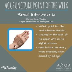 #TipTuesday: #Acupuncture Point of the Week, Small Intestine 6! #integrativelife