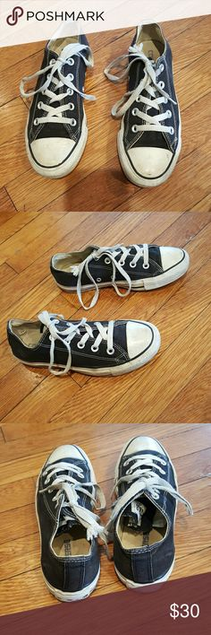 CONVERSE BLACK SNEAKERS SIZE 6 CONVERSE BLACK SNEAKERS SIZE 6 BLACK CANVAS ONE STAR ALL STAR Mens 4 Womens 6 Converse Shoes Sneakers