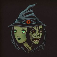Witches - Print · Dave Quiggle Illustration · Online Store Powered by Storenvy Halloween Items, Halloween Art, Vintage Halloween, Halloween Images, Black Light Posters, Scary Art, Classic Horror Movies, Pop Culture Art, Creatures Of The Night
