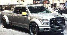 widebody ford f150. grey brushed wheels, CARS OF SEMA 2014   See more about Wheels, Ford and Grey.