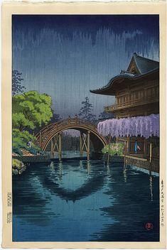Koitsu, Tsuchiya Kameido Temmangu Shrine and Bridge, Tokyo