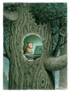 Hazel Nuts by Franco Matticchio squirrel art illustration Art And Illustration, Illustration Inspiration, Fantasy Kunst, Fantasy Art, Arte Peculiar, Beatrix Potter, Whimsical Art, Cute Art, Illustrators