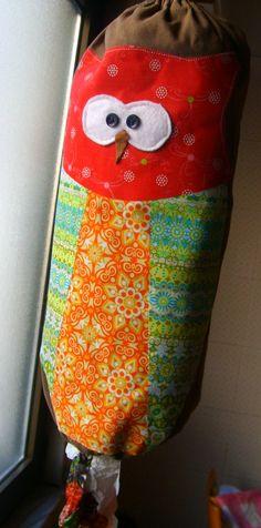 8d9c3b9c0045 owl plastic grocery bag holder or plastic bag dispenser- im going to make a  crochet