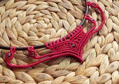 collar de Macrame, macrame retractor, boho, hippie, gitana, joyería Bohemia, moda tribal, festival. HECHO A LA MEDIDA