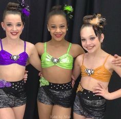 Dance Moms Colour Swap/Change - Kendall Vertes, Nia Frazier & Maddiel Ziegler - Bad Girls ~ Blue, Gold, and Pink -> Purple, Green, and Orange - Edit by @melinonasgard