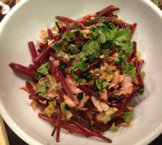 Beet greens and savoy cabbage sauteed in olive oil and garlic, garnished with cilantro | LOVE - the secret ingredient