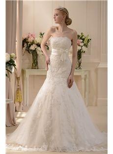 طفيف جدا البوق / حورية البحر حمالة الطابق طول مصلى فستان الزفاف