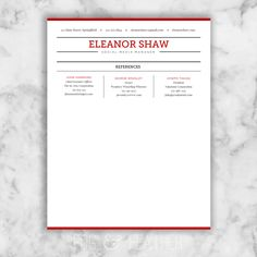 Page  Of  Page Eleanor Shaw Resume Template  Cv Template By Fog