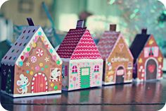 WhiMSy love: Printable Gingerbread Houses
