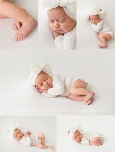 Newborn baby girl...winter whites and snuggled up B Couture Photography
