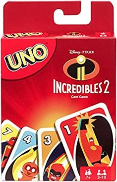 Mattel UNO Incredibles 2 Card Game - Parental Guidance - Getting The Best Educational Games And Toys For Kids Uno Card Game, Uno Cards, Game Tag, Card Games, Educational Toys For Kids, Kids Toys, Facade Game, Harry Potter Card Game, Board Games