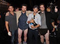 MTV Movie Awards Backstage: Zac Efron, Danny McBride, Taylor Lautner, and Seth Rogen