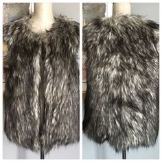 ❗️LAST ONE❗️Jessica Simpson Faux Fur Vest Gorgeous faux fur vest from Jessica Simpson !  Has a hook and eye top clasp closure .  Fully lined .  Made of 87% modacrylic/13% polyester .  Machine wash/dry .  Also available in my closet in size L .  ✨SIZE L SOLD✨ Jessica Simpson Jackets & Coats Vests