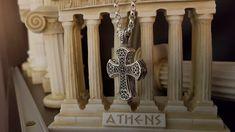 Sterling Silver Cross Pendant, Handmade Sterling Silver, Crow Skull, Byzantine, Beautiful Rings, Silver Rings, Pendants, Chain, Etsy