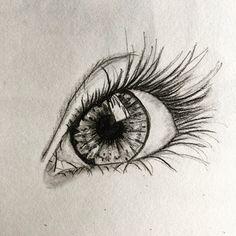 #oeil #eye #croquis au #crayon et #prismacolor