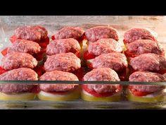 Bardzo proste, ale bardzo smaczne - idealny sposób na ziemniaki! | Smaczny.TV - YouTube Romanian Food, Polish Recipes, Mets, Ground Beef Recipes, Food Videos, Sausage, Appetizers, Food And Drink, Tasty