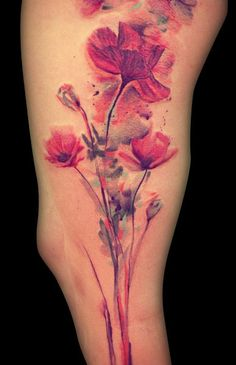 Tattoo Artist - Ondrash Tattoo  not sure where the heck this tattoo is lol but i love the colored ink tattoos