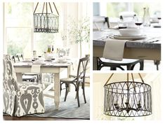 What a Lovely Gray & White Dining Room   Ballard Designs      Maria Dining Room