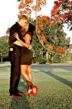 Love it. along with the cute fall setting and matching clothes colors. just so romantic!!! :)   <3