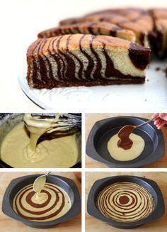 Zebra Cake Tutorial http://thecakebar.tumblr.com/post/61967723751/zebra-cake-tutorial