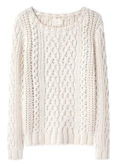 El clásico jersey crudo o blanco de invierno