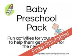Baby Preschool Pack -- perfect for families expecting a baby or for teaching preschoolers about babies.